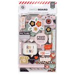 American Crafts - Pink Paislee - Switchboard Collection - Chipboard Stickers