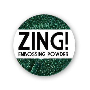 American Crafts - Zing! Collection - Glitter Embossing Powder - Blue, CLEARANCE