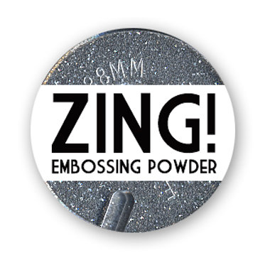 American Crafts - Zing! Collection - Glitter Embossing Powder - Silver