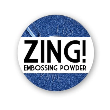 American Crafts - Zing! Collection - Metallic Embossing Powder - Blue, CLEARANCE