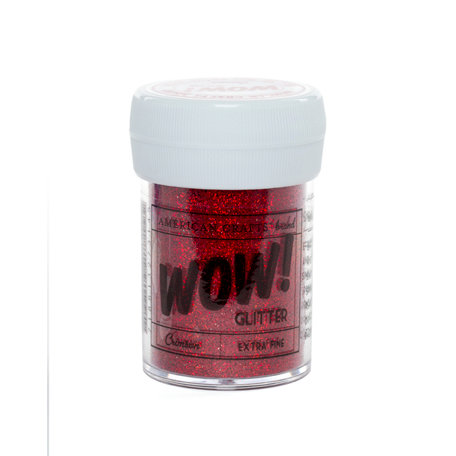 American Crafts - Wow! - Glitter - Extra Fine - Crimson