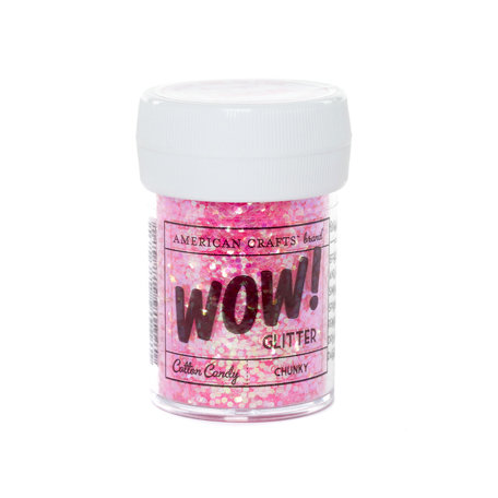 American Crafts - Wow! - Glitter - Chunky - Cotton Candy