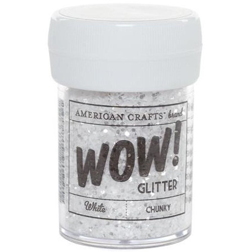 American Crafts - Wow! - Glitter - Chunky - White