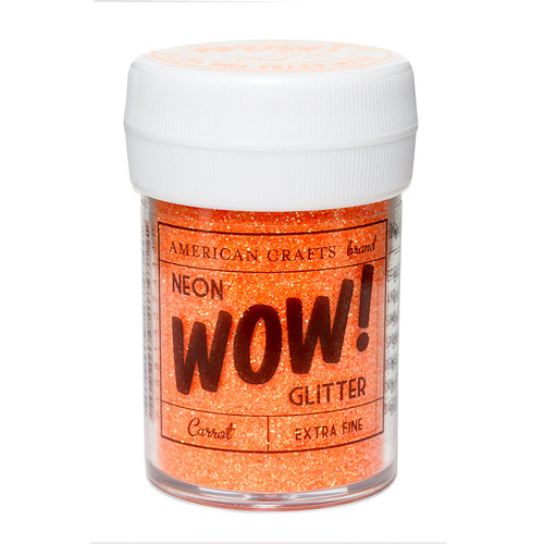 American Crafts - Wow! Neon Glitter - Extra Fine - Carrot