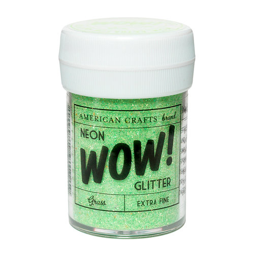 American Crafts - Wow! Neon Glitter - Extra Fine - Grass