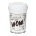 American Crafts - Wow! Iridescent Glitter - Extra Fine - White