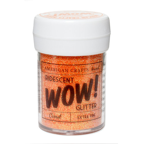 American Crafts - Wow! Iridescent Glitter - Extra Fine - Carrot