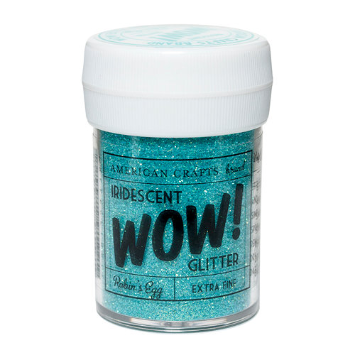 American Crafts - Wow! Iridescent Glitter - Extra Fine - Robin's Egg