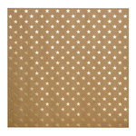 Bazzill Basics - 12 x 12 Kraft Paper With Foil Accents - Stars