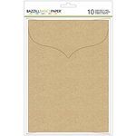 Bazzill - Cards and Envelopes - 5 x 7 - Kraft - Scalloped
