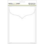 Bazzill - Cards and Envelopes - 5 x 7 - White - Scalloped