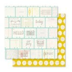 Pink Paislee - Memorandum Collection - 12 x 12 Double Sided Paper - Ledger