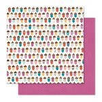 Pink Paislee - Cedar Lane Collection - 12 x 12 Double Sided Paper - Acorn Avenue