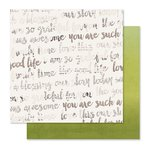 Pink Paislee - Cedar Lane Collection - 12 x 12 Double Sided Paper - Green Space