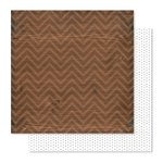 Pink Paislee - Cedar Lane Collection - 12 x 12 Double Sided Paper - Walnut Street