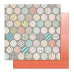 Pink Paislee - Cedar Lane Collection - 12 x 12 Double Sided Paper - Circle Street