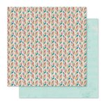 Pink Paislee - Cedar Lane Collection - 12 x 12 Double Sided Paper - 5th Avenue
