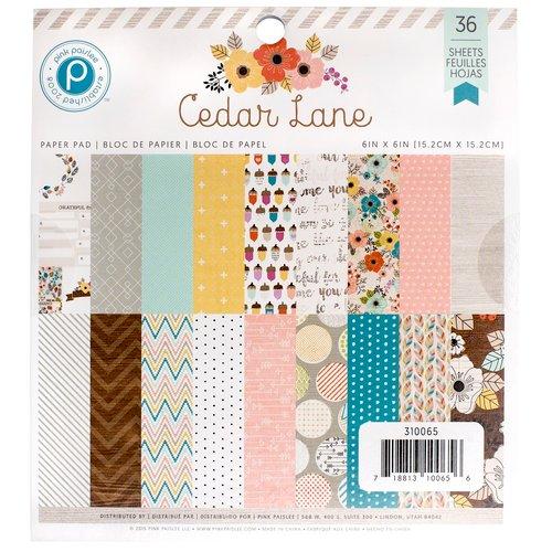 Pink Paislee - Cedar Lane Collection - 6 x 6 Paper Pad