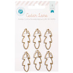 Pink Paislee - Cedar Lane Collection - Feather Paper Clips - Gold