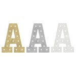 Heidi Swapp - Marquee Love Collection - Marquee Inserts - 8 Inches - A - Gold, Silver, and White Glitter - 3 Pack