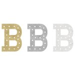 Heidi Swapp - Marquee Love Collection - Marquee Inserts - 8 Inches - B - Gold, Silver, and White Glitter - 3 Pack