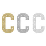 Heidi Swapp - Marquee Love Collection - Marquee Inserts - 8 Inches - C - Gold, Silver, and White Glitter - 3 Pack