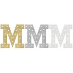 Heidi Swapp - Marquee Love Collection - Marquee Inserts - 8 Inches - M - Gold, Silver, and White Glitter - 3 Pack