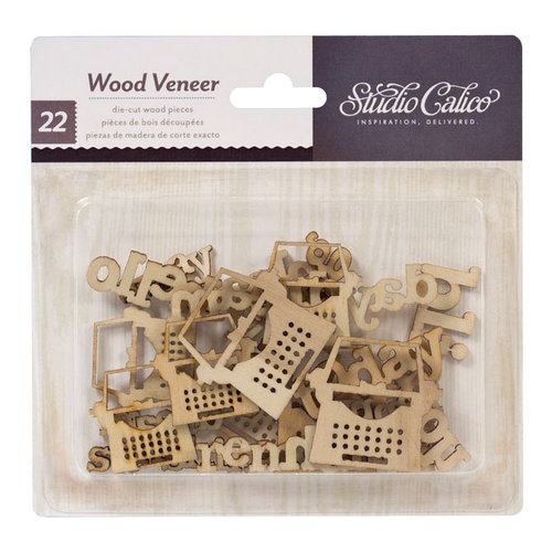 American Crafts - Studio Calico - HeyDay Collection - Wood Veneer Pieces - My Type