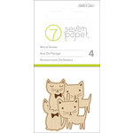 Studio Calico - Seven Paper - Baxter Collection - Wood Veneers Shapes - Cats