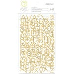 Studio Calico - Seven Paper - Baxter Collection - Puffy Stickers - Gold Foil Alphabet