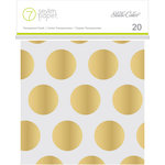 Studio Calico - Seven Paper - Amelia Collection - Handbook - 4 x 4 Transparent Cards - Gold Foil