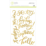 Studio Calico - Seven Paper - Amelia Collection - Stickers - Foil Phrase