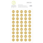 Studio Calico - Seven Paper - Amelia Collection - Cardstock Stickers - Gold Number