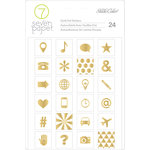 Studio Calico - Seven Paper - Amelia Collection - Cardstock Stickers with Foil Accents - Icons