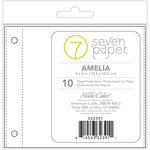 Studio Calico - Seven Paper - Amelia Collection - 4 x 4 Page Protectors - Refills Set 1