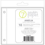 Studio Calico - Seven Paper - Amelia Collection - 4 x 4 Page Protectors - Refills Set 2