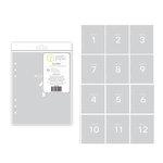 Studio Calico - Seven Paper - Clara Collection - Handbook Dividers - 6 x 8 - Transparent - Months