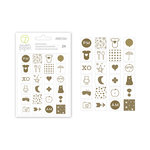 Studio Calico - Seven Paper - Clara Collection - Cardstock Stickers with Foil Accents - Icons