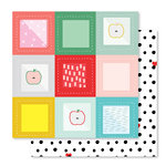 Studio Calico - Seven Paper - Clara Collection - 12 x 12 Double Sided Paper - Paper 007