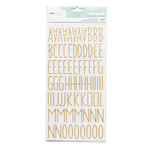American Crafts - Dear Lizzy Collection - Documentary - Thickers - Gold Foil - Desktop - Gold
