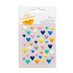 American Crafts - Amy Tangerine Collection - Finders Keepers - Enamel Hearts