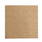 American Crafts - Dear Lizzy Collection - Documentary - 12 x 12 Kraft Paper with Foil Accents - Celebrate