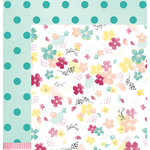 American Crafts - Dear Lizzy Collection - Documentary - 12 x 12 Double Sided Paper - Blossom