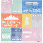 American Crafts - Amy Tangerine Collection - Finders Keepers - 12 x 12 Die Cut Paper - Scout
