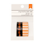 American Crafts - Halloween Collection - Washi Tape - Pumpkins and Orange Diamond