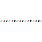 American Crafts - Grosgrain Ribbon - 0.375 Inch - Multicolor Chevron - 4 Yards