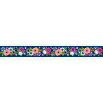 American Crafts - Grosgrain Ribbon - 0.625 Inch - Floral - 4 Yards