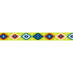 American Crafts - Grosgrain Ribbon - 0.625 Inch - Bright Aztec - 4 Yards