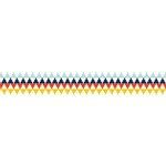 American Crafts - Grosgrain Ribbon - 0.875 Inch - Geo Triangles - 4 Yards