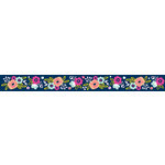 American Crafts - Grosgrain Ribbon - 1.5 Inch - Navy Floral - 3 Yards